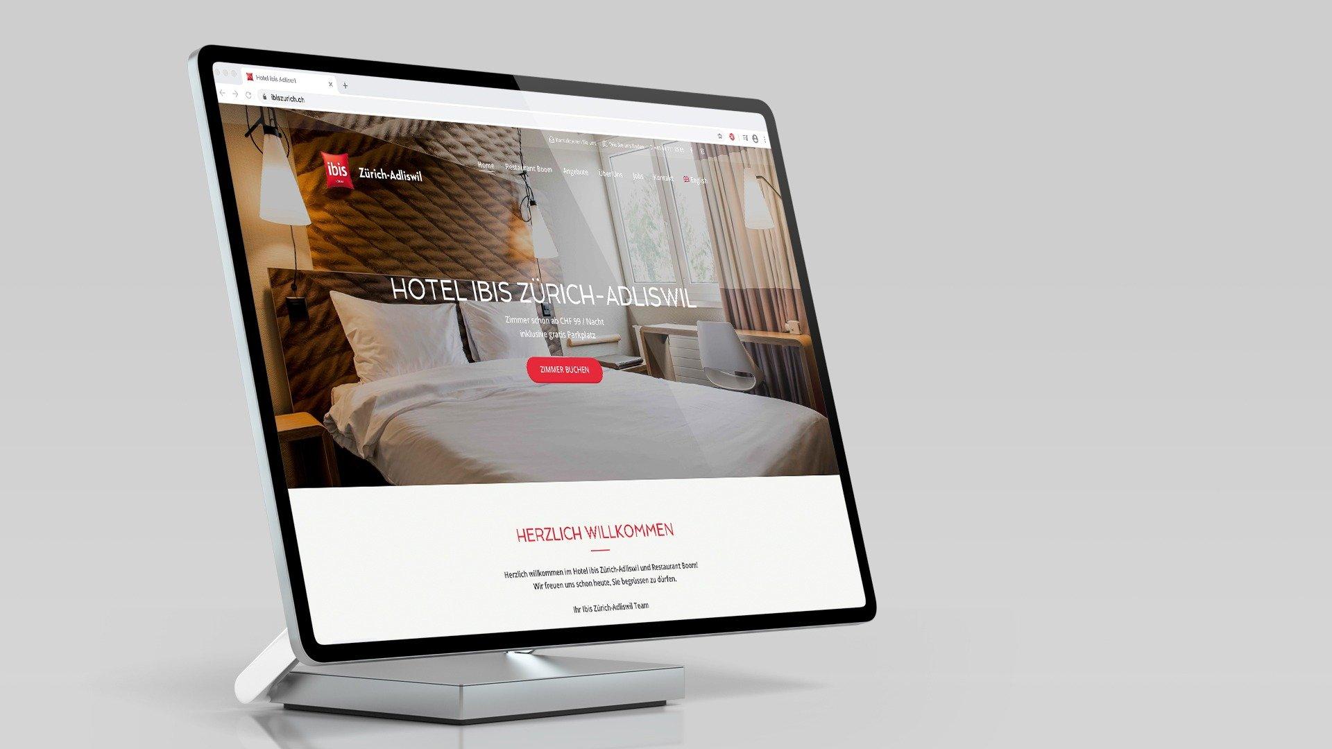 Ibis Hotel Adliswil Webdesign Surface Responsive Tyro Media Group