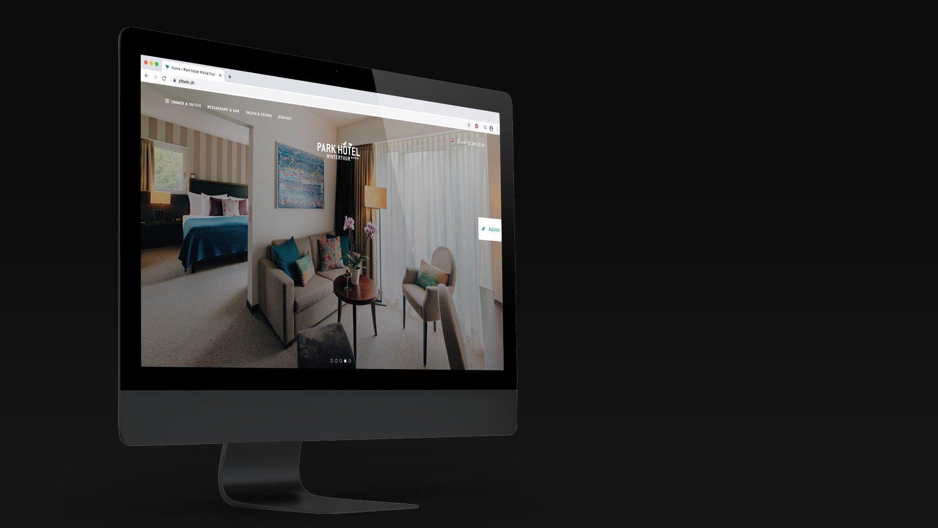 Park Hotel Winterthur Webdesign Surface Responsive 2 Tyro Media Group